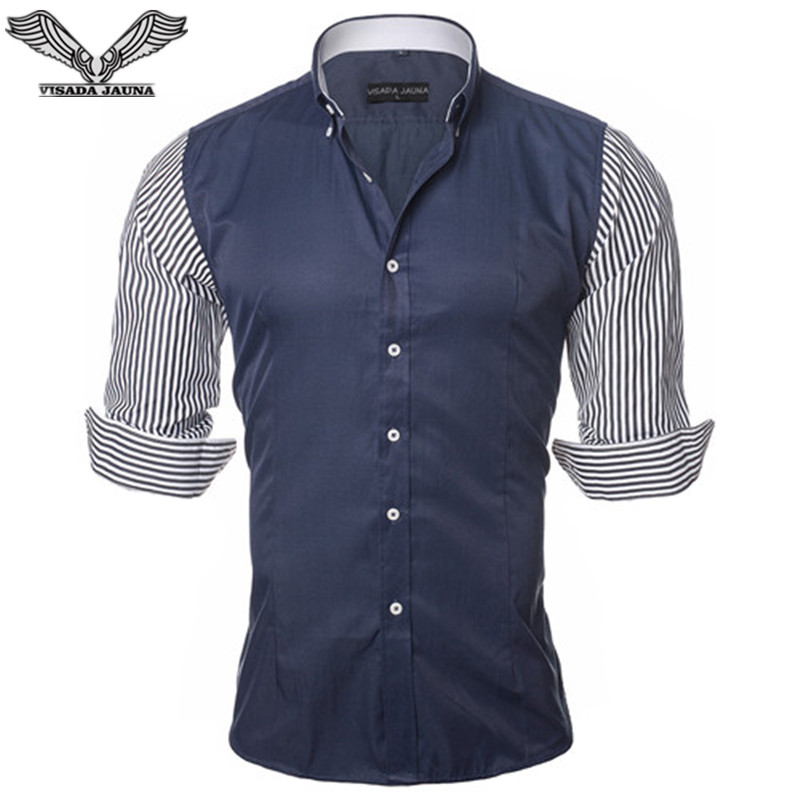 Visada jauna european size men 39 s shirt fashion men 39 s for European mens dress shirts