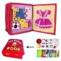 3D детская тканевая книга Сделай Сам Нетканая книга с живописными иллюстрациями ручной Интеллектуальный пазл, детская игрушка для развития ...