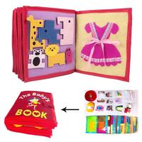 3D Kid Cloth Book DIY Non Woven Panting Book Manual Intelligence Puzzle Children Toy Early Education Development Reading Book