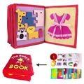 3D chico libro DIY de tela no tejida jadeando libro Manual inteligencia rompecabezas juguete de los niños de la educación temprana de desarrollo libro de lectura