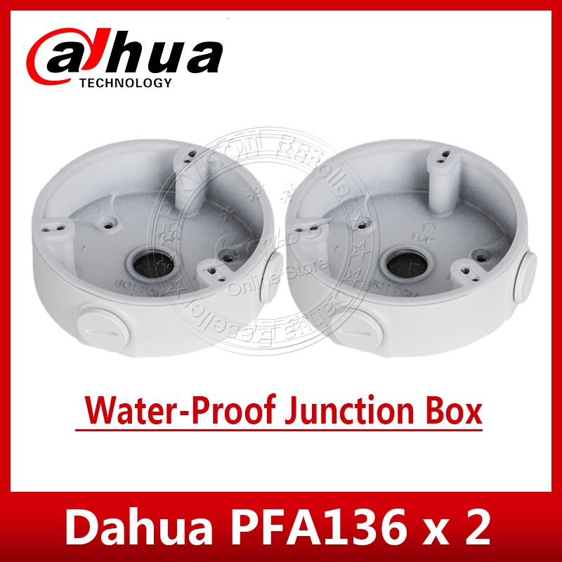 2PCS/Lot Dahua Waterproof Junction Box PFA136 For Dahua IP Camera IPC-HDW4433C-A& IPC-HDW4233C-A CCTV Mini Dome Camera DH-PFA136