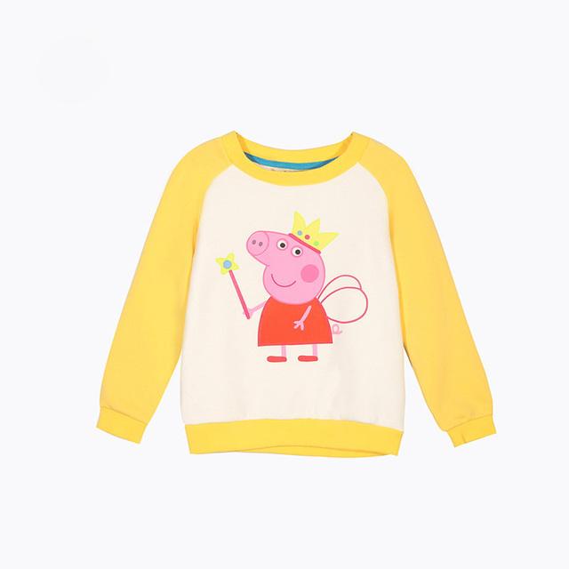Nuevos 2016 niños ropa de Deporte Sudaderas Con Capucha Chicas ropa 100% Algodón lindo cerdo con capucha suéteres de los bebés sudaderas con capucha outwear