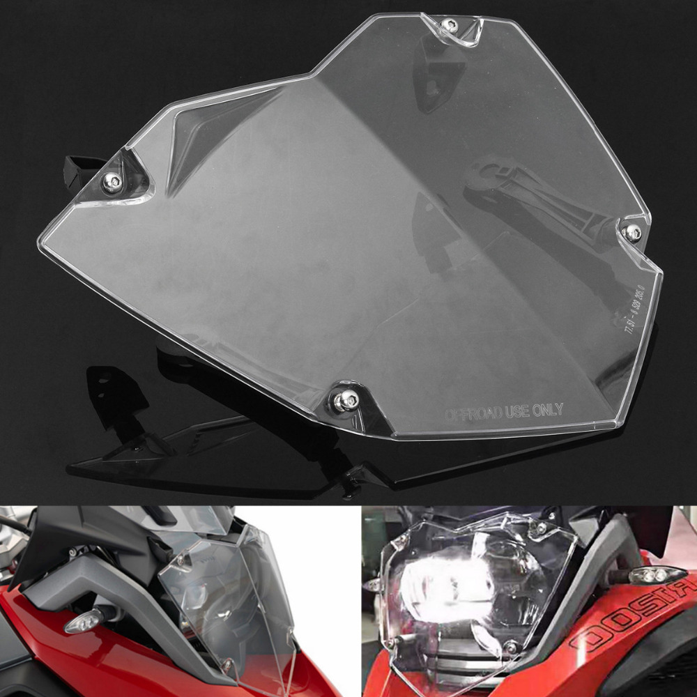 For BMW R 1200 GS LC Adventure Transparent Headlight Guard Headlight Protector
