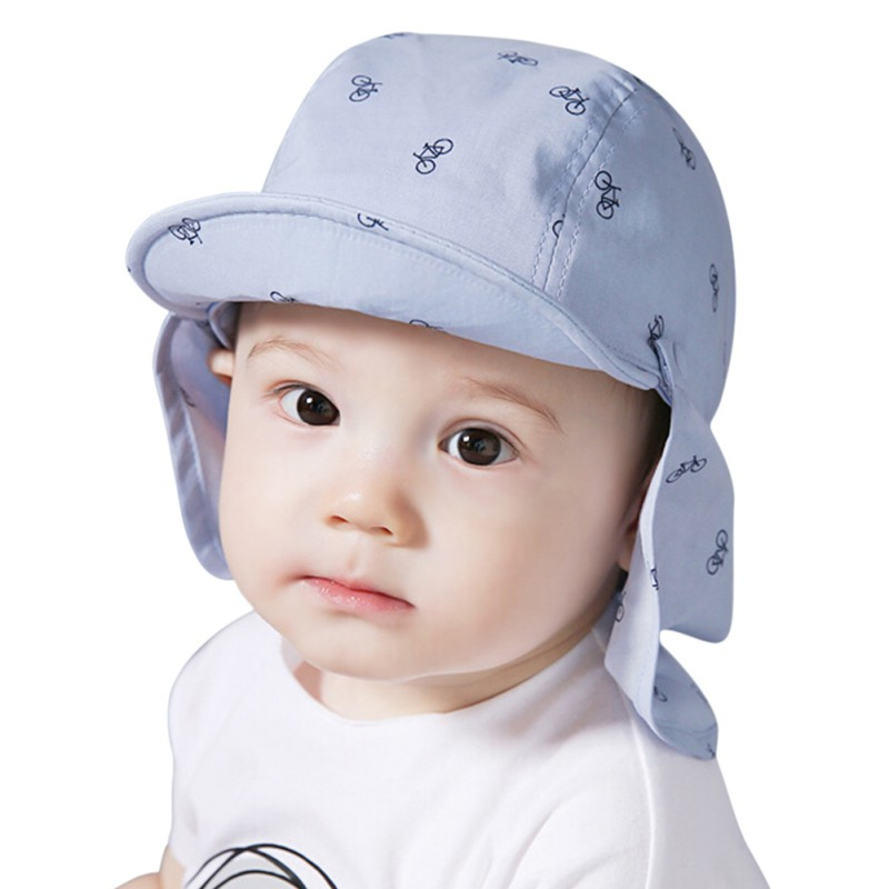 2017 New Print Sun Hat Baby Summer Caps for Children with Soft Brim Blue/White Detachable for 6-18 Months 2 pcs/Set floral pattern wide brim oversized summer hat