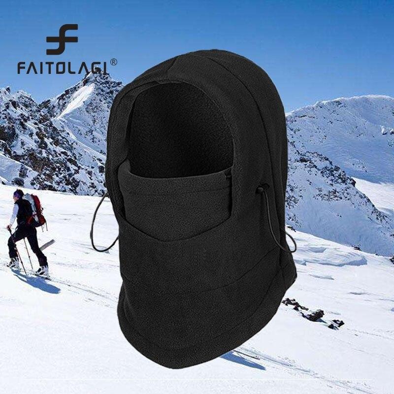 Lower Price Face Mask   Hats Soft Fleece Balaclava Face Mask Hood Swat Bike Windproof Woman Men's Headdress Skullies Beanies