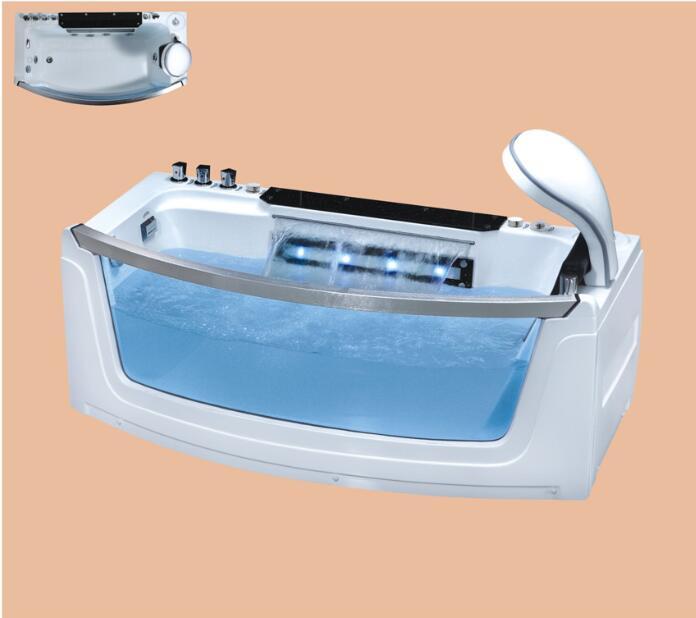 Fiberglass whirlpool Bathtub Acrylic With ABS composite board Piscine massage Waterfall Tub NS3033