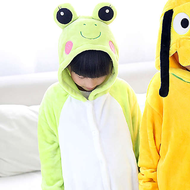db210a36a Online Shop Dog pajamas frog baby boys clothes warm sleepwear coral ...