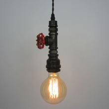 Water pipe pendant light E27 without bulb restaurant cafe bar single head decorative