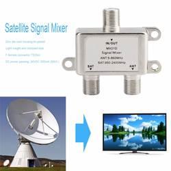 2 в 1 2 способ Спутниковое Splitter ТВ сигнальный кабель ТВ сигнала смеситель СБ/АНТ Диплексер легкий и компактный