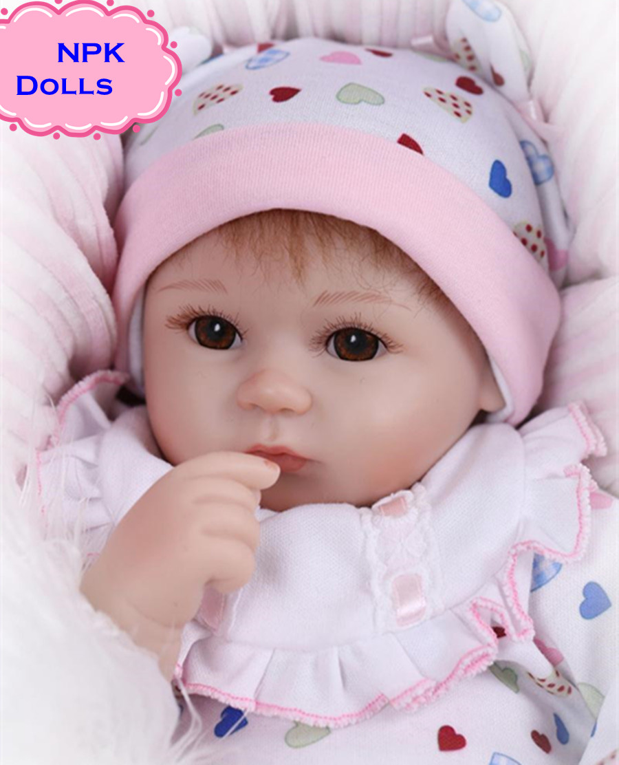 New Hot Sale NPK Real Silicon Baby Dolls About 18inch Lovely Doll reborn For Baby Gift Bonecal Bebe Reborn Brinquedos newest fashionable npk real silicone baby dolls about 22inch lifelike doll reborn for baby gift bonecas bebe reborn brinquedos