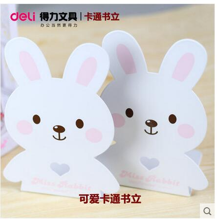 2pcs/pair Deli Metal Cartoon Bookstands Cute Animal Children Book Holder Bookends Paperalia office school supplies 181*88*80cm deli korea creative book holder 2pcs set metal bookends decorative bookend cute animal book holder for reading support kid gifts