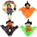 1PC Halloween Pumpkin Ghost Witch Decoration Wreaths Hanging Resin Straw Doll