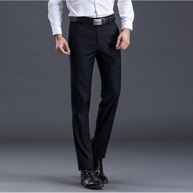 XMY3DWX New fashion male high-grade slim fit business Suit pants/Male leisure pure color Casual pants/men Thin leg pants 28-42