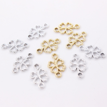 20mm*12mm Charms Connectors For Jewelry Making 2 Loops Circle Pendant diy Fashion Earrings Bracelet Necklace