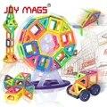 Bloques magnéticos de diseño JOY MAGS 89/102 unids 149 modelos de construcción juguetes educativos de plástico para niños pequeños