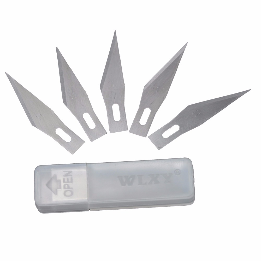 BeHelper 50 Pcs 11# Metal Blades Wood Paper Cutter Carving Sculpture Knife Blade Scalpel Cutting Tool Mobile phone Repair Tools 42pcs lot blade and handle 11 and 23 medical scalpel opening repair tools knife for disposable sterile mobile phone beauty diy