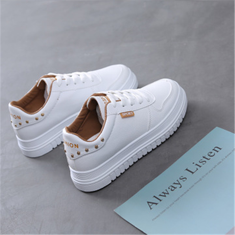 1fa624ce Autumn Women Flats Lace Up Loafers Leather Casual shoes Thick outsole  Outdoor Sneakers Fashion Girls Sport shoes 033-in Women's Flats from Shoes  on ...