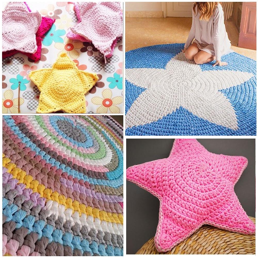 100g Home Colourful DIY Crochet Cloth Carpets Yarn Cotton Wool ... for Diy Carpet Yarn  14lpgtk