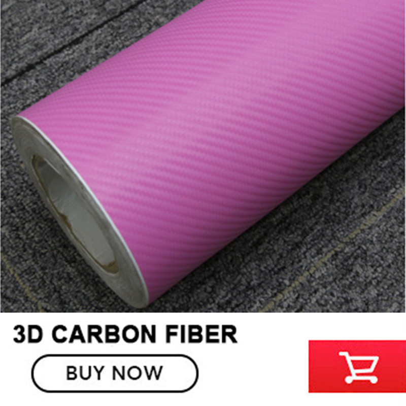 Pink Auto Carbon Fiber Car Wrap Vinyl Film Bubble Free For Car Stickers Size:1.52*30m/Roll 40cmx200cm car styling 3d 3m carbon fiber sheet wrap film vinyl car stickers and decals motorcycle automobiles car accessories