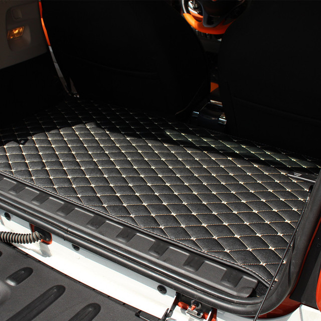 Car trunk mat for Mercedes new Smart forfour 453 fortwo 451 interior anti-dirty pad interior accessories decorative leather rug 1