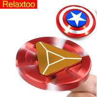 Captain America Ironman Fidget Hand Spinner Super Hero spiner Water Droplets Toys For Autism and Anxiety Anti-stress Adults Gift