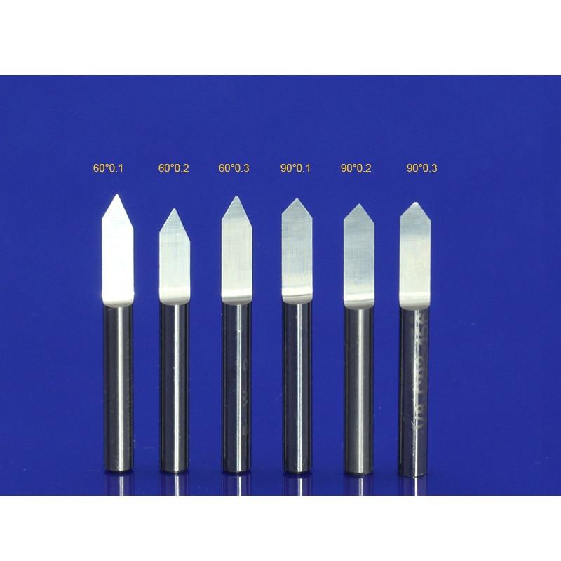 10Pcs 3.175mm wolframový bit karbid PCB gravírovací vrtáky CNC - Obráběcí stroje a příslušenství - Fotografie 4