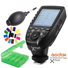 лучшая цена In Stock!! Godox XPro-F 2.4G TTL Wireless High Speed Sync 1/8000s Flash Transmitter X system High-speed Trigger For Fuji Cameras