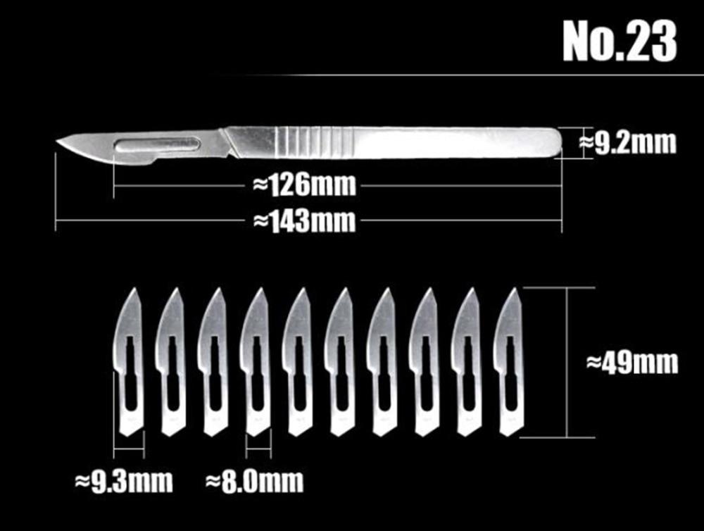 2st Scalpel mes met 20st beeldhouwen messen professionele Animal - Handgereedschap - Foto 3