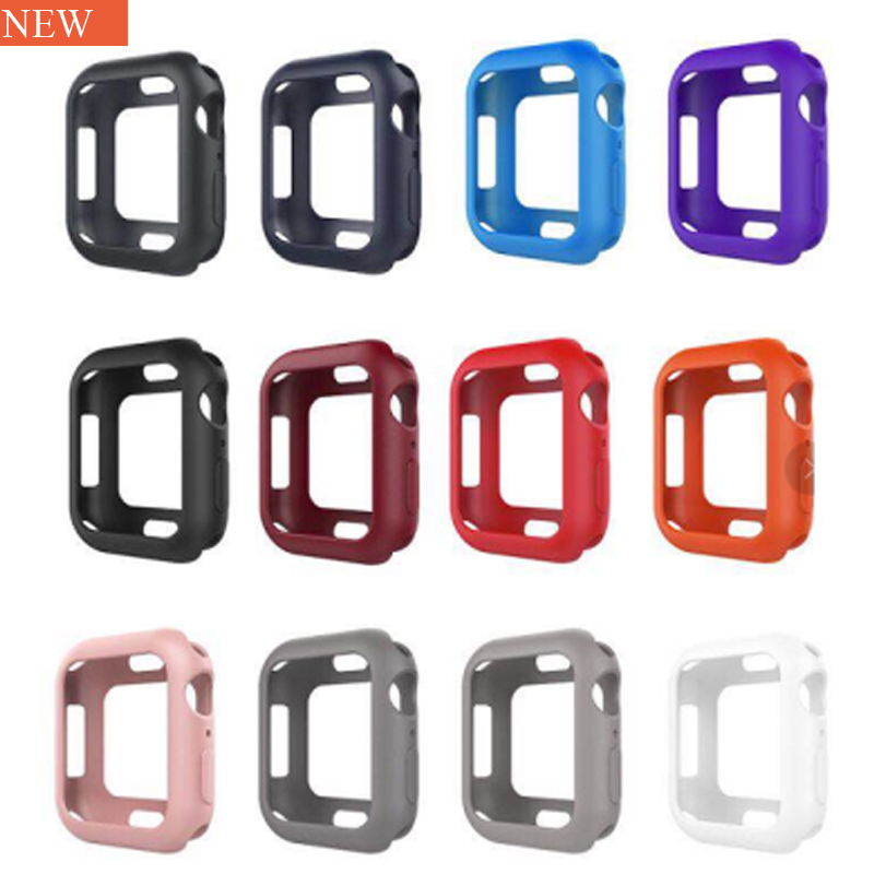 2018 Fall resistance Soft Silicone Case For Apple Watch iWatch Series 4 1 2 3 Cover Frame Full Protection 42mm 38mm strap band new silicone case watch frame for apple watch series 3 2 1 38mm 42mm watch band full protection case cover for apple iwatch 3 2