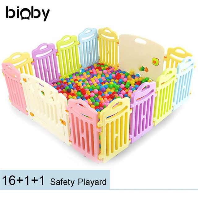 Portable Baby Playpen Panel Fence Children Outdoor Indoor Pool Kids Safe Foldable Colored Panels