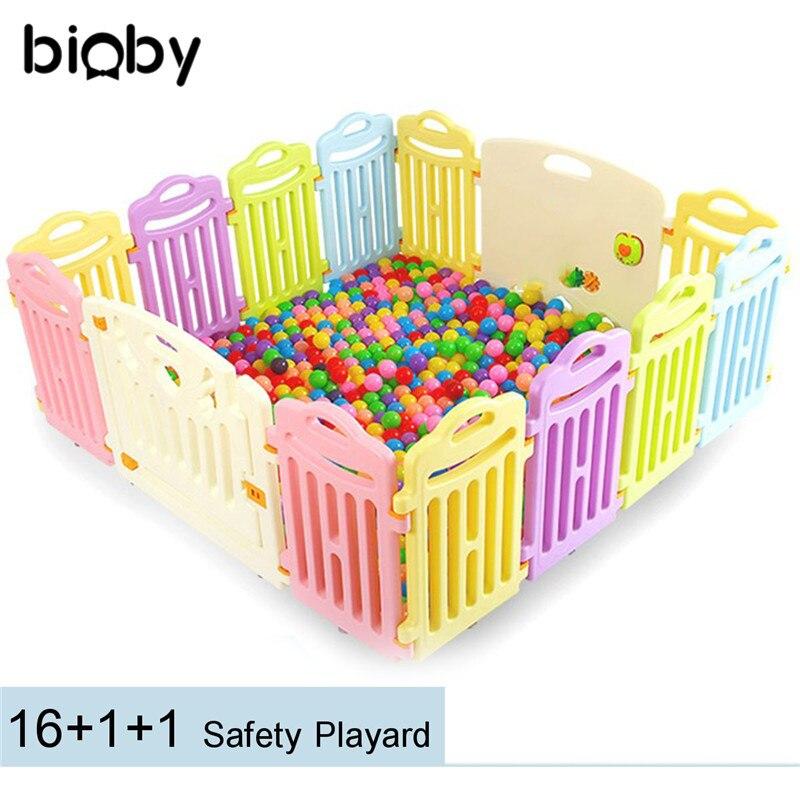 Portable bébé parc jeu panneau clôture enfants extérieur intérieur balles piscine enfants sûr pliable coloré panneaux parcs jeu piscine