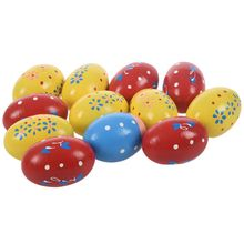 12pcs Shaker Eggs Wooden Egg Shakers Percussion Musical Maracas Toys for Kids Toddlers
