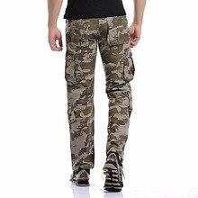 Autumn Men army Pants 2018 Men's Camo Cargo Pants Casual Combat military Trousers Male Multi-pockets Baggy Pant Sale Belt 125cm