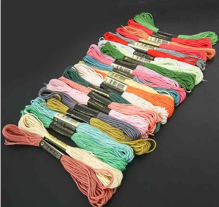 비슷한 dmc 스레드 색상 자수 스레드 원사 치실 당신은 어떤 색상과 수량을 자유롭게 선택할 수 있습니다