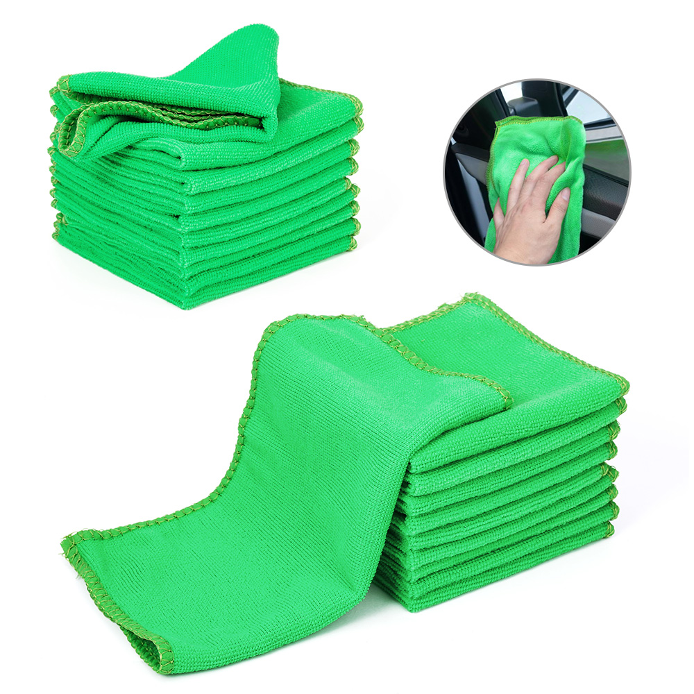 1pc Microfiber Car Wash Towel Soft Cleaning Car Care Detailing Cloths Wash Towel Duster 9.84'' X 9.84''Inch Microfiber Towel Car