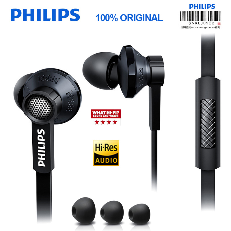 Original Philips Tx1 HiRes earphone high resolution HIFI fever earbuds ear noise canceling earphones for S9 S9 Plus Note 8