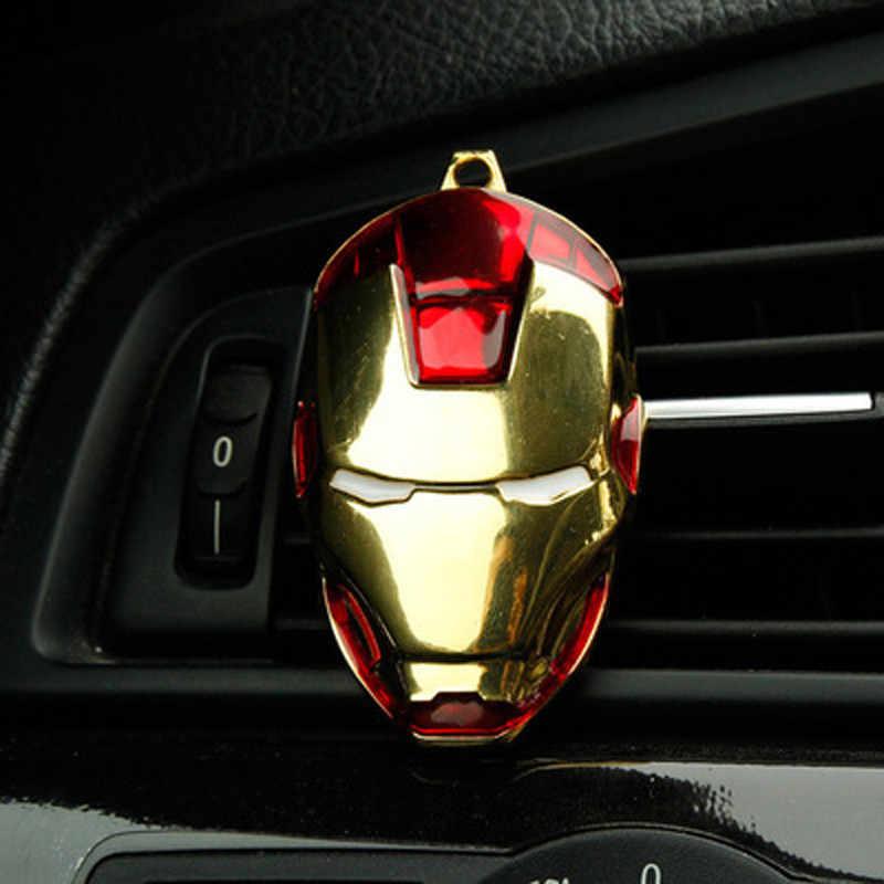 Criativo de Purificadores De Ar de Ventilação do Ar Condicionado do carro Perfume Clipe Para O Capitão Vingadores Marvel Spiderman Car Styling Acessórios Auto