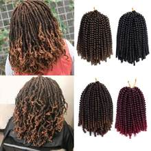 3PCS Fluffy Twist Hair Curly Ombre Synthetic Hair Extensions Spring Twist Ombre Crochet Braids Chemical Fiber Curly Twist Hair(China)