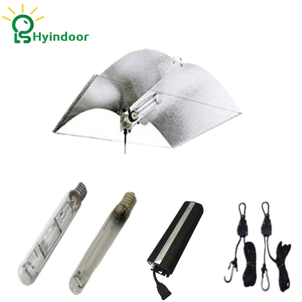 Hydroponics 1000W HPS MH Grow Lights System with Digital Ballasts Adjust a Wing Reflector Lamp Covers Professional Plant Lamp 250w grow light kits with adjustable a wing reflector