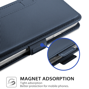 Image 4 - For BlackBerry KEY2 LE Case PU Leather Flip Stand Wallet Case with Mirror & Kickstand & Card Pocket For BlackBerry KEY2 LE phone