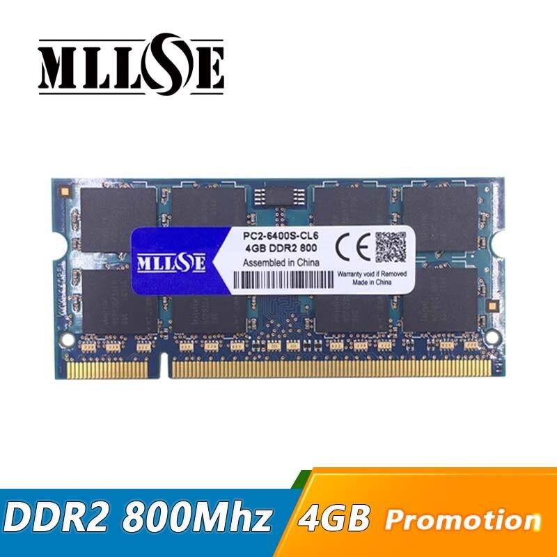Mllseメモリram ddr2 4ギガバイト8ギガバイト800 mhz pc2 6400 sodimmノートパソコン、メモリアラムddr2 4ギガバイト800 mhz pc2 6400ノートブック、4ギガバイトddr2メモリ  グループ上の パソコン & オフィス からの RAM の中 1