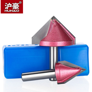 Image 5 - Huhao 8 Mm Shank V Bit Cnc Vhm Mill 3D Frezen Voor Hout 60 90 120 150 deg Tungsten Houtbewerking Frees