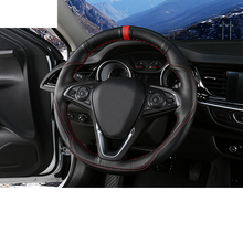 Lsrtw2017 Cow Leather Car Steering Wheel Cover Trims for Buick Regal Opel Insignia 2018 2019 2020