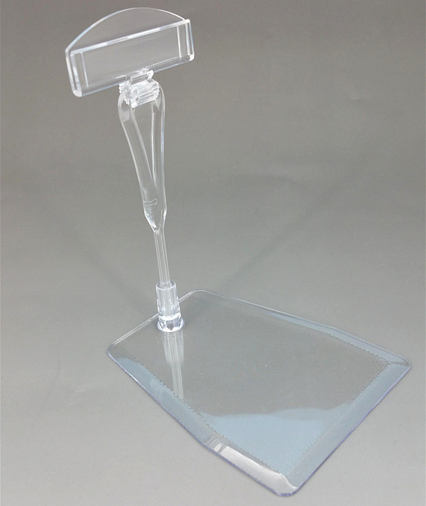 POP Plastic Clear Clip Sign Card Price Tag Holder Display Stand Detachable In Retail Supermarket Store 1000sets High Quality