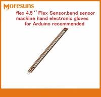 Free Ship Original New 4.5 inch Flex Sensor,bend sensor machine hand electronic gloves for Arduino recommended bending sensor