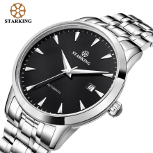 STARKING Original Brand Watch Men Automatic Self wind Stainless Steel 5atm Waterproof Business Men Wrist Watch
