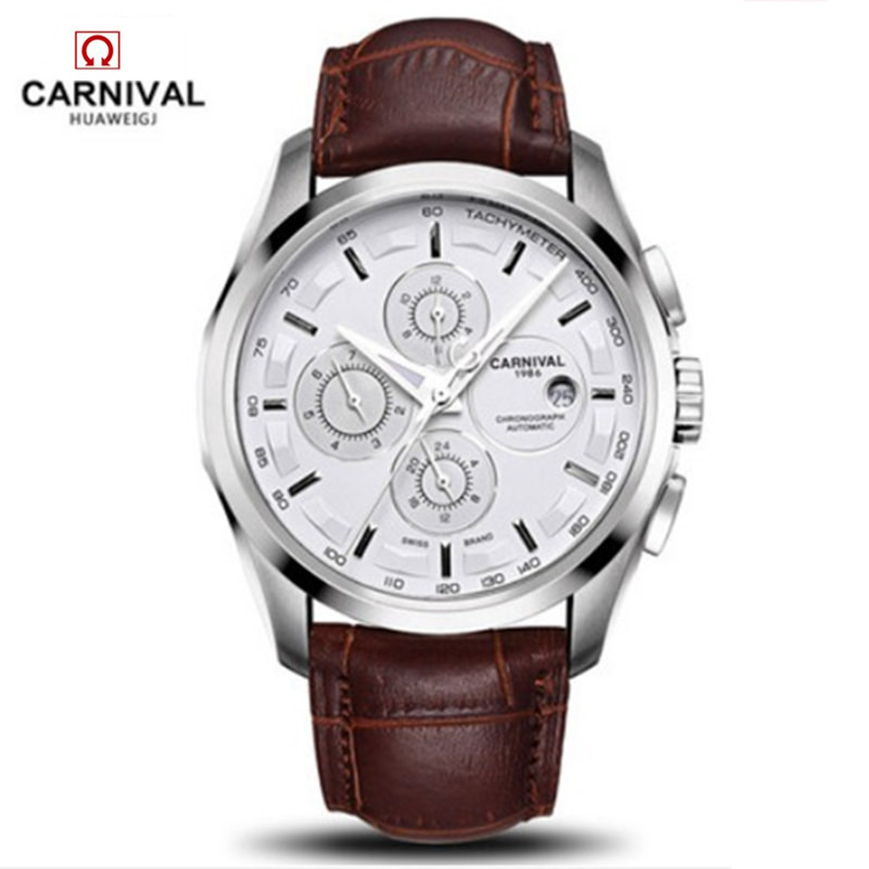 Image 5 - relogio masculino New Carnival Automatic Watches Men Mechanical 