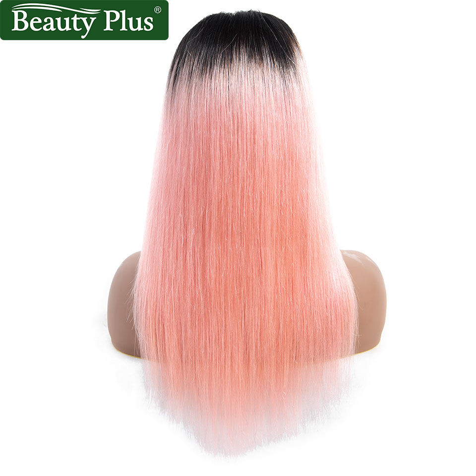 Lace Closure Wig 4x4 Pre Colored Rose Pink Ombre Human Hair Wig for Black Women Brazilian Remy Short Hair Wigs Beauty Plus-in Lace Front Wigs from Hair Extensions & Wigs    3