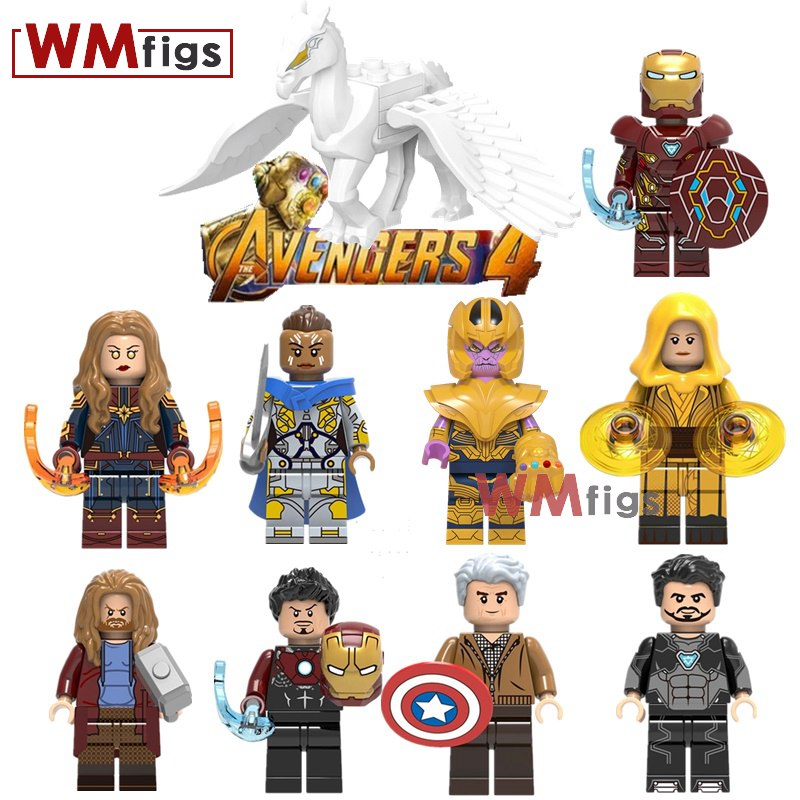 50PCS Lot Ancient One Captain Marvel Building Blocks Valkyrie Thor Super Heroes kids Gifts kids Toys