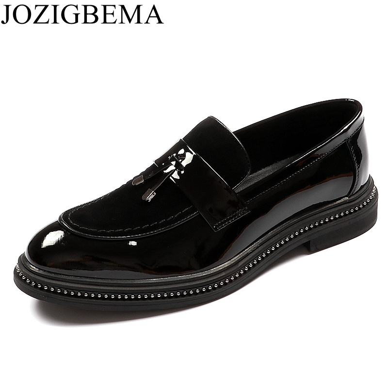 Loafers Lace Pretos Negócios Casamento Vestido Formal Up Respirável On slip Sapatos Couro Pointy Moda Da Homens Luxo Marca Patente De Oxford 4YW7FqSwzT